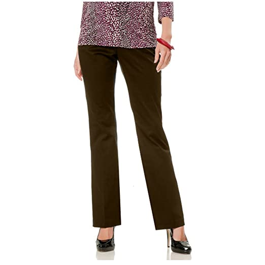 bd173d2197c22 Belly Envy Chocolate Work It Maternity Pants (X-Large, Brown) at ...