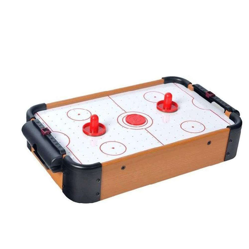 Walmeck- Mini Table Top Air Hockey Game Pushers Pucks Family Xmas Gift Arcade Toy Playset
