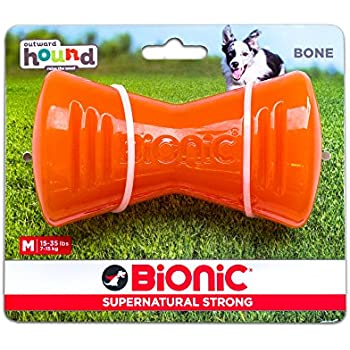 Pet Supplies : Tough Rubber Dog Bone, Durable Chew Toy for