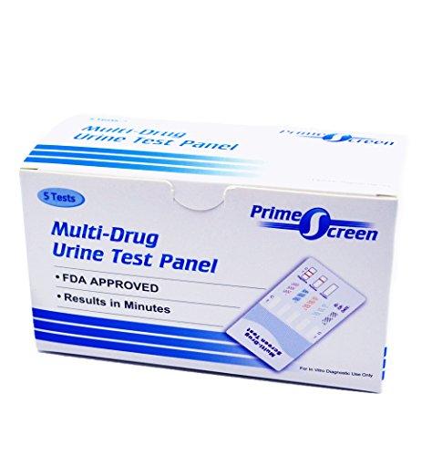 PrimeScreen - [5 Pack] 5 Panel Instant Urine Test - Marijuana (THC), Cocaine (COC), Opiate (OPI 2000),Benzodiazepines (BZO), Amphetamine (AMP) WDOA-754 (Best Detox For Cocaine)