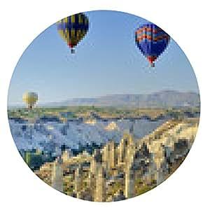 alfombrilla de ratón Turquía, Capadocia, Goreme vuelos en globo - ronda - 20cm