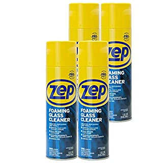 Zep Foaming Glass Cleaner 19 Ounce ZUFGC19 (case of 4) Clings to Dirt, Trusted by Pros