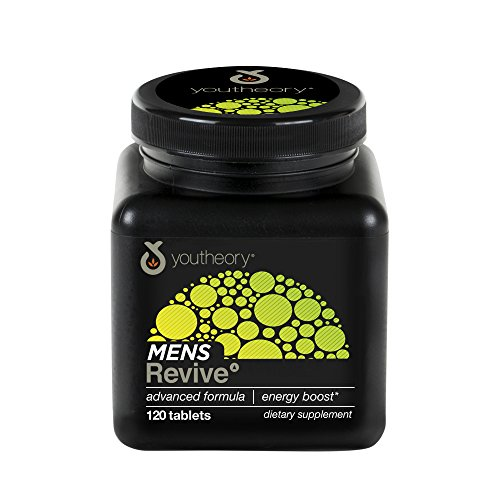 Youtheory Mens Revive Advanced with Black Tea, 120 Count (1 Bottle)