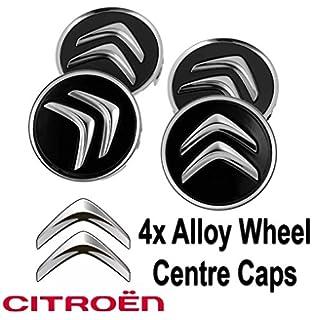 4 tapacubos centrales para llantas de aleación para Citroën C1, C3 C4, DS3,