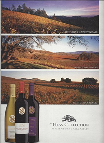 MAGAZINE AD For 2009 Hess Collection Napa Valley Wines 3 Winery ()