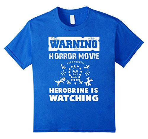 Warning Horror Movie Herobrine is Watching T-Shirt