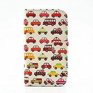 Mini - Wallet Style Colorful Car PU Leather Full Body Cover with Stand and Card Slot for iPhone 6