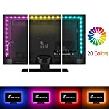 Vansky 80inch RGB Bias Lighting for HDTV USB Powered LED Strip Neon Accent Lighting Kit for Flat Screen TV LCD, Desktop PC (Reduce eye fatigue and increase image clarity)