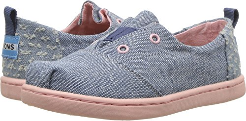 TOMS Kids Baby Girl s Lumin (Infant Toddler Little Kid) Blue Slub Chambray  8 M US Toddler 47a4f5aaa96