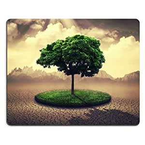 Patten Single Green Tree Mouse Pads Customized Made to Order Support Ready 9 7/8 Inch (250mm) X 7 7/8 Inch (200mm) X 1/16 Inch (2mm) High Quality Eco Friendly Cloth with Neoprene Rubber Liil Mouse Pad Desktop Mousepad Laptop Mousepads Comfortable Computer Mouse Mat Cute Gaming Mouse_pad