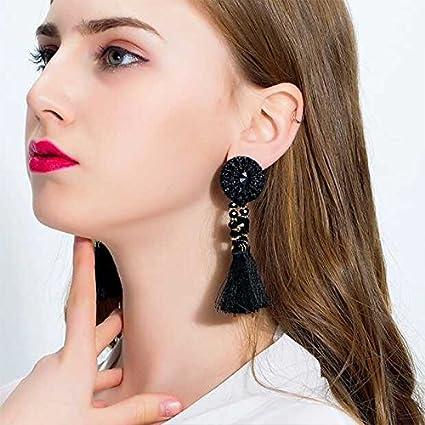 Rose Doitsa 1 Paire Boucles doreilles Gland Gemmes de Cristal de Mode Boucles doreilles Pompon Accessoires de d/écoration pour Femme