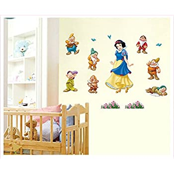 Wall Sticker Decal Snow White And The Seven Dwarfs Kids Room Decor Mural  Nursery Daycare And Part 33