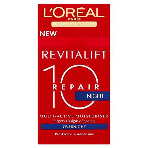 L'Oréal Paris Revitalift Anti Wrinkle Total Repair 10 Night Cream (50ml) - Pack of - Repair Revitalift