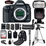 Canon EOS 5D Mark III Digital SLR Camera (Body Only) + Professional Accessory Bundle (14 items)