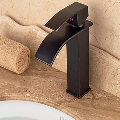 Black 2 Maifeini Faucet, Faucet, Faucet, Faucet, Faucet, Faucet The Waterfall Bathroom Basin Sink Mixer Taps Square Then Shank Hole, Chrome Finish