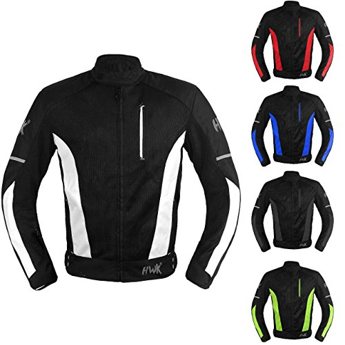 Mesh Motorcycle Jacket Textile Motorbike Summer Biker Air Jacket CE ARMOURED BREATHABLE (XX-Large, (Air Flow Textile Jacket)