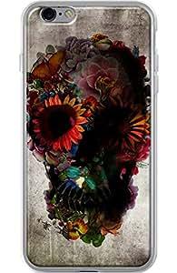 Funda para Apple Iphone 6PLUS/6S Plus, transparente, revestimiento de silicona de calavera by Ali Gulec