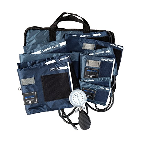 MABIS Medic-Kit5 EMT and Paramedic First Aid Kit with 5 Calibrated Nylon Blood Pressure Cuffs, Blue by MABIS DMI Healthcare (Image #2)
