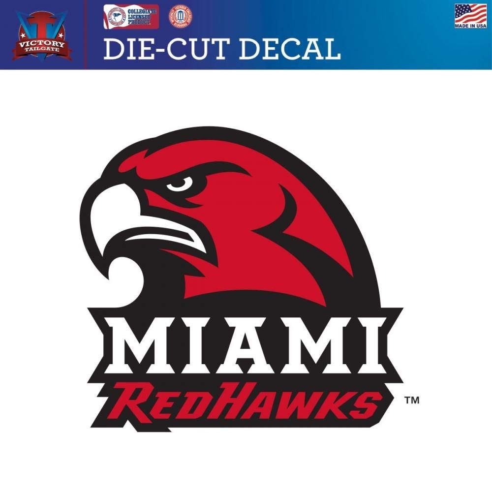 Victory Tailgate Miami University Redhawks Die-Cut Vinyl Decal Logo 2