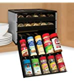 YouCopia Chef's Edition SpiceStack 30-Bottle Spice Organizer, Silver (Discontinued by Manufacturer)