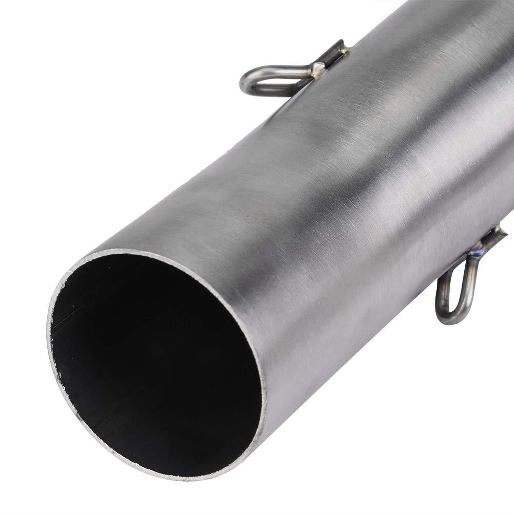 Tubo medio de escape motocicleta de 51 mm Sistema de silenciador de escape completo Sistema de escape del tubo medio Conexi/ón para 250 390 RC390 17-18