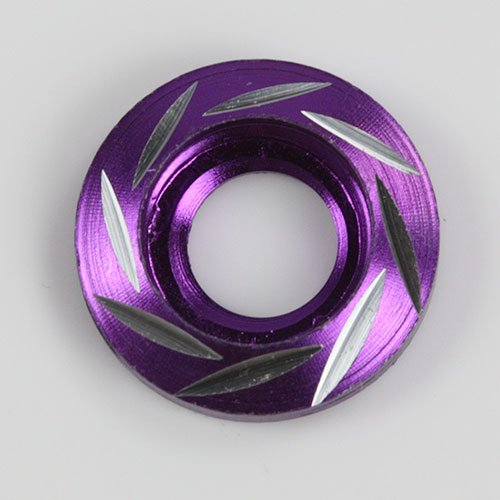 10 Pieces by Modifystreet Style 4 Purple Aluminum Alloy Fender Bumper Engine Dress Up Washers Kit with Bolts