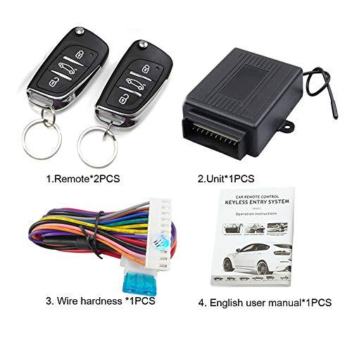 Manakayla M602-8175DS Remote Control Central Locking Kit Car Door Keyless Entry System Black