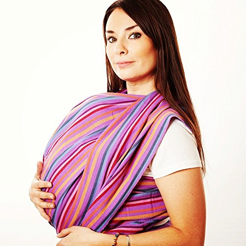Handmade Woven Wrap Baby Carrier for Infants and Toddlers (Tropical) ()