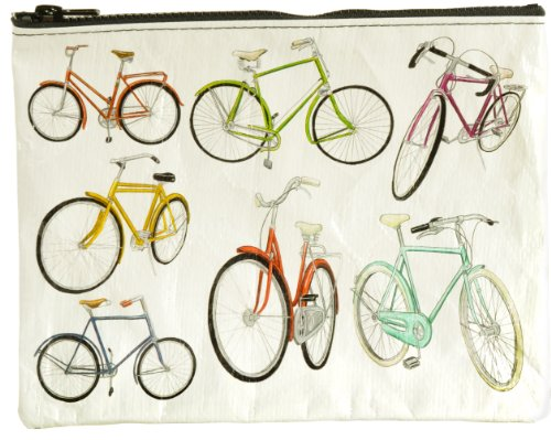 Blue Q Bicycles Zipper Pouch - Bag Fashion Accessories