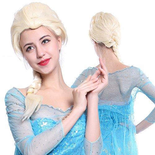 Anladia - Larga Peluca Rubia disfraces de Frozen Snow Queen Princess Elsa Peluca de Elsa Frozen: Amazon.es: Juguetes y juegos