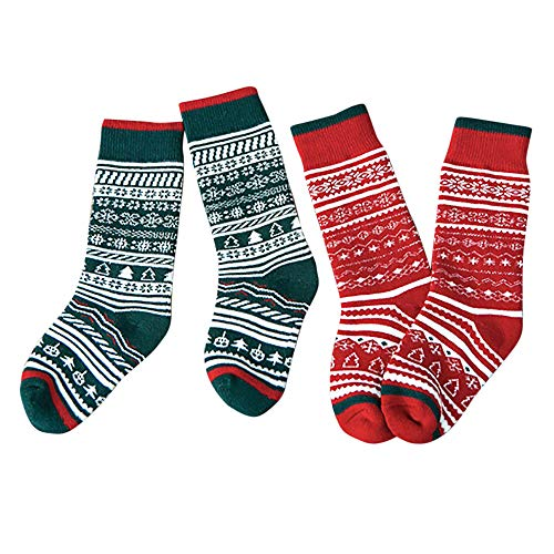 HTDBKDBK Socks For Girls Baby Boys 2 Pairs Winter Cute Casual Socks Middle Tube Socks Socks Christmas Christmas Gifts