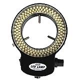 Stereo Microscope Ring Light - SODIAL(R)144 LED Ring Light Adjustable illuminator Lamp for Stereo Microscope + Adapter, Black