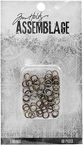 Advantus THA20063 Tim Holtz Assemblage Findings Jump Rings, Multicolor ()