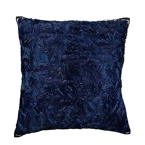 Diseñador Azul marino fundas de cojines, 65x65 cm funda ...