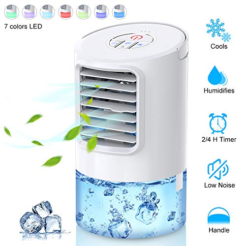 Personal Air Conditioner Fan, Personal Space Cooler For Desktop Portable Mini Evaporative Air Cooler, Humidifier Misting Fan Air Conditioner For Room, Office, Kitchen