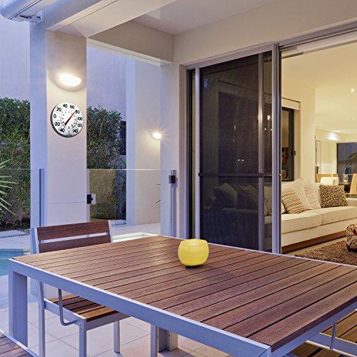 Marathon Housewares BA03002F Large 12'' Institutional Indoor/Outdoor Thermometer - White by Marathon Housewares (Image #1)