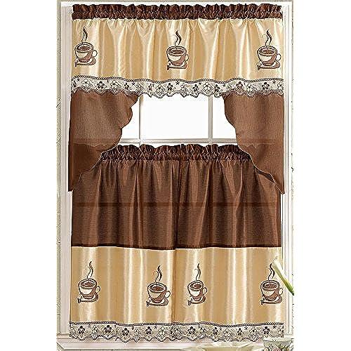 Kitchen Christmas Curtains Amazon Com: Coffee Kitchen Curtains: Amazon.com
