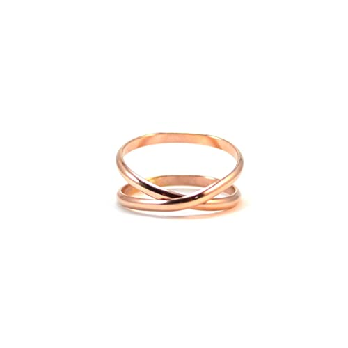 Amazon Rose Gold Infinity Ring Crossover Ring Gifts for