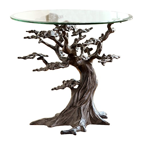 SPI Home Aluminum Cypress Tree End Table