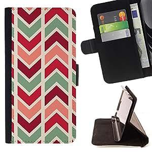 - Queen Pattern FOR Samsung Galaxy Core Prime /La identificaci????n del cr????dito ranuras para tarjetas tir????n de la caja Cartera de cuero cubie - chevron lines pattern teal ma