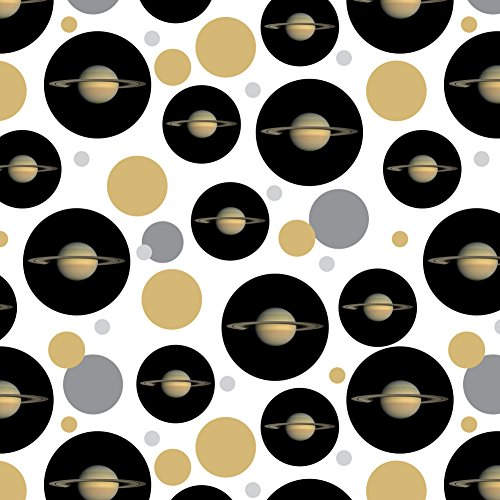 Paper Saturn (Planet Saturn with Rings Solar System Premium Gift Wrap Wrapping Paper Roll)