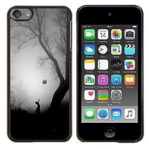 Scary Árbol Halloween Girl Negro- Metal de aluminio y de plástico duro Caja del teléfono - Negro - iPod Touch 6