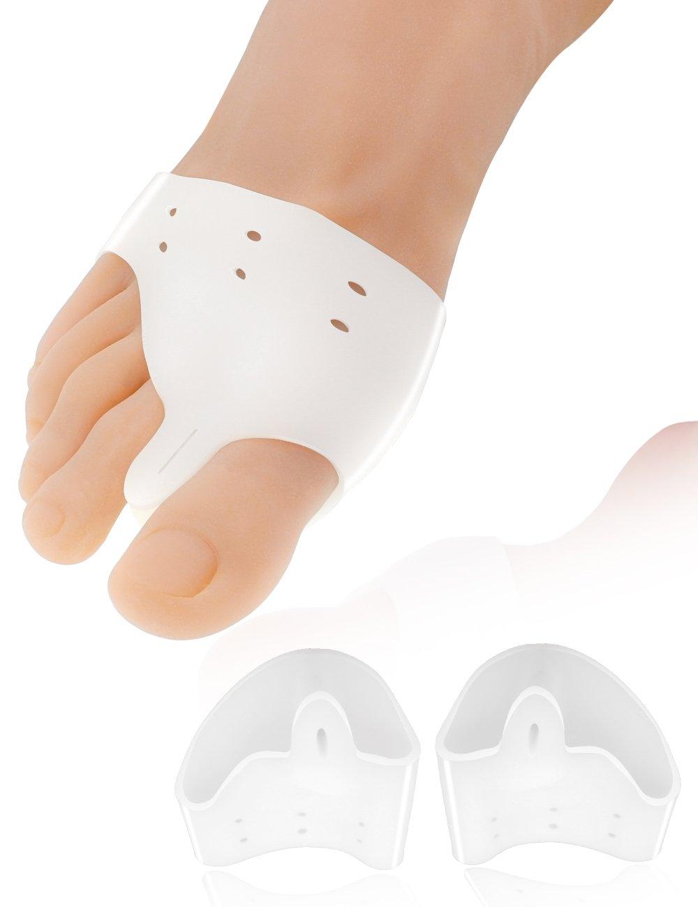 Toe Glow Bunion Corrector 2pcs Gel Bunion Pads Splint Protector Sleeves kit Toe Pain Hallux Valgus Relief Big Toe Spacers for Women & Men