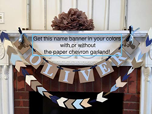 Little Buck Baby shower decoration - Oh Deer 1st birthday Name Decor - Woodland birthday Garland - Hunting birthday decor - your color choice