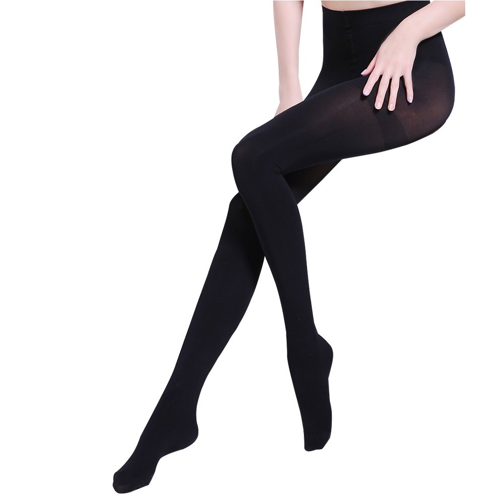 Ruipuple Women's Winter Warm Velvet Lined Tights Waisted Elastic Leggings Pants,Thermal Stretchy Pantyhose Sexy-Black