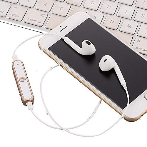 ThinIce Bluetooth 4.1 Wireless In-Ear Earphones Bass Stereo Sports Running Gym headphone Neckband Headphone with Mic Gold