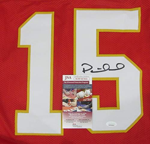 brand new 98b9b 9ca21 Patrick Mahomes Signed KC Chiefs Red Pro-Style Custom Football Jersey JSA  144301