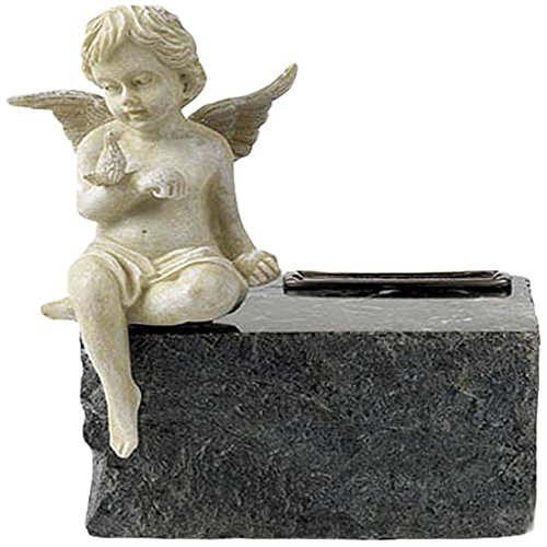 Elegante Beautifully Crafted Black Marble with Angel Keepsake/Infant Urn