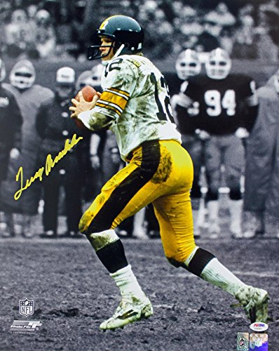 (Terry Bradshaw Signed Photograph - 16X20 w Holo & - PSA/DNA Certified - Autographed NFL Photos)
