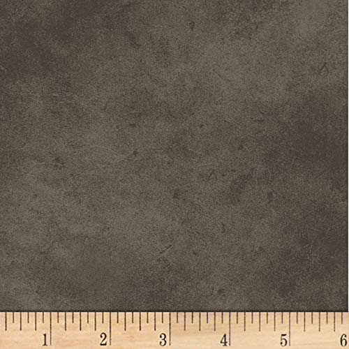 P & B Textiles Suede 6 Smokey Brown Fabric by The Yard -  302-SUE6-SZ
